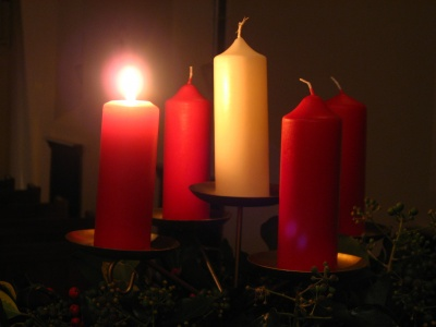 advent, candles, church