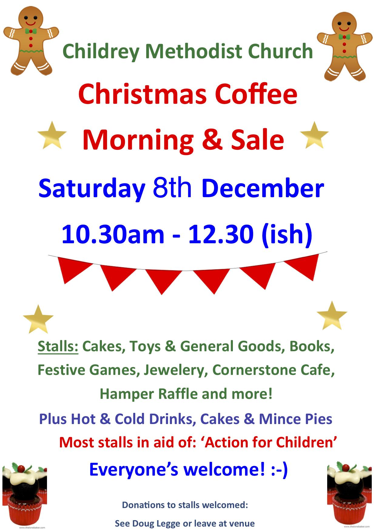 Childrey Methodist Church Christmas Coffee Morning Dec 2018