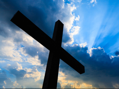easter, cross, sky