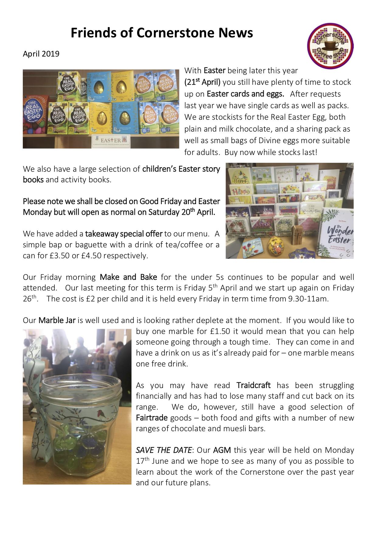 Friends Newsletter April 2019