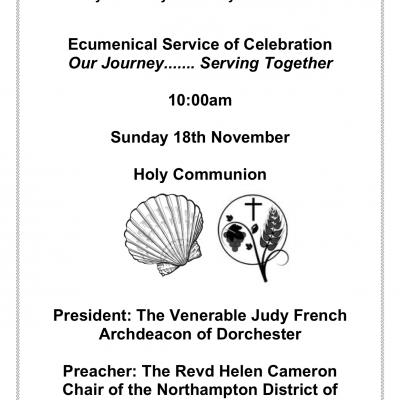 Poster for ecumenical service at S- Marys