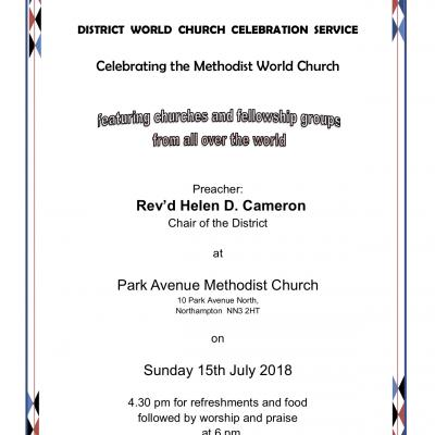 World Church Service Poster July 2018